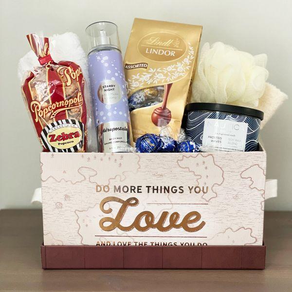 Sweet Night Spa Gift Basket