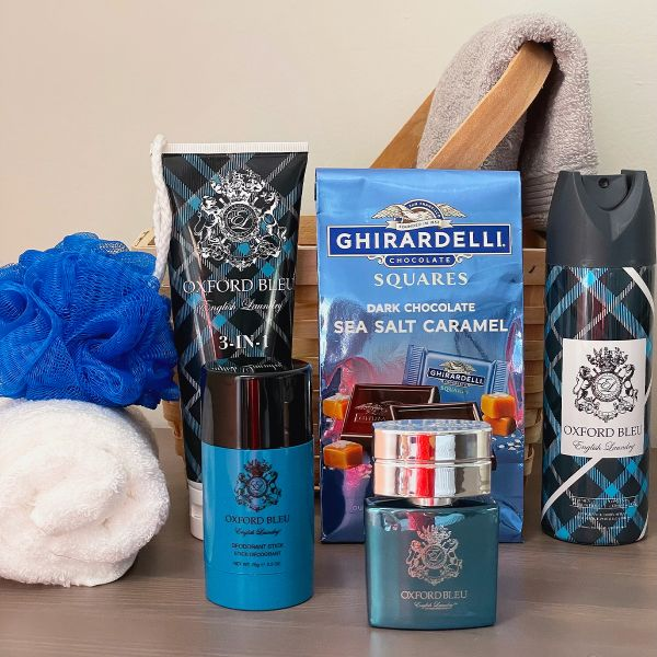 English Laundry Oxford Bleu Gift Basket For Men