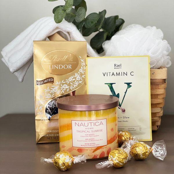 Tropical Sunrise Spa Gift Basket